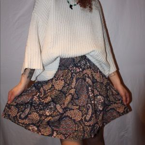 floral paisley skirt